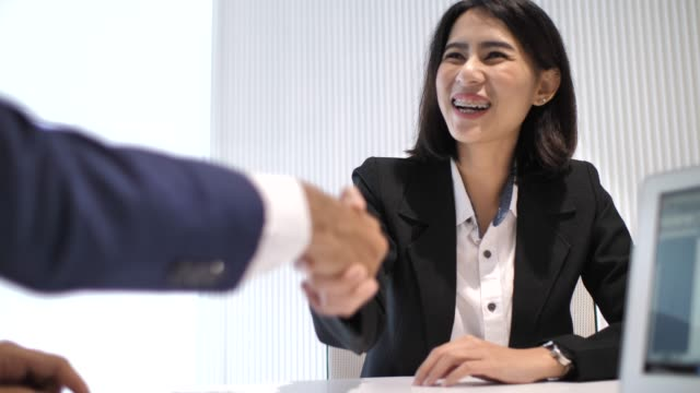 job application interview, agreement - candidate stock videos and b-roll footage