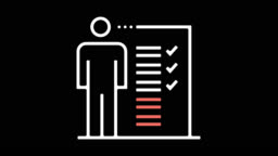 Job Description Line Icon Animation with Alpha