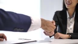 Job interview and Handshake
