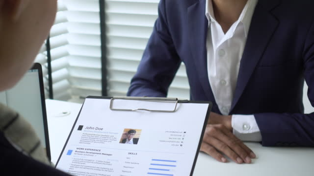 job interview  resume - candidate stock videos & royalty-free footage