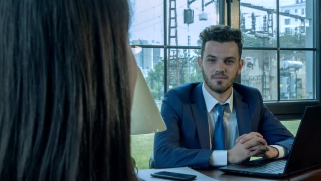 job interview - colloquio di lavoro video stock e b–roll