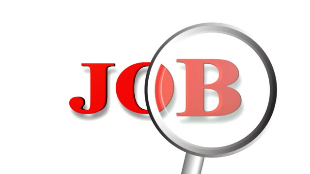 job magnifying glass search - classified ad stock videos and b-roll footage