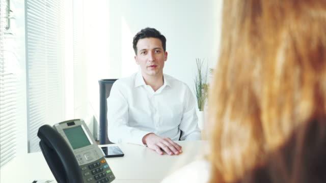 Job recruitment interview.