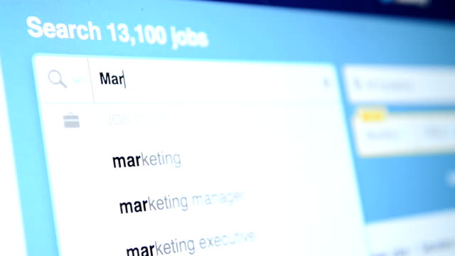 job search screen - job search stock videos and b-roll footage