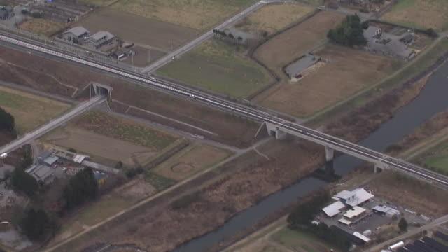 vidéos et rushes de aerial, joban expressway, fukushima, japan - lieux géographiques