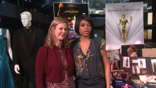 jobeth williams and taraji p henson at the 15th annual screen actors guild awards preparations at los angeles ca - taraji p. henson stock videos and b-roll footage