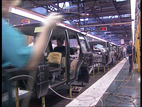 jobs; cr2182 / england: solihull int seq land rover production line - land rover stock videos & royalty-free footage
