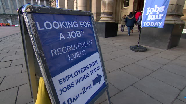 jobs fair in birmingham to help people find jobs in care services are now suffering from staff shortages, caused in part by falling migration from... - recruit stock videos & royalty-free footage