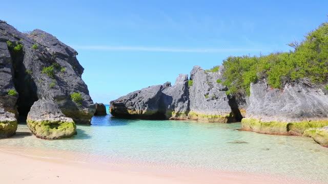 jobson's cove south shore park bermuda - bermuda stock videos & royalty-free footage