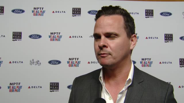 interview joby harold on how hollywood takes care of its own at the 7th annual reel stories real lives event benefiting mptf at directors guild of... - director's guild of america stock videos & royalty-free footage