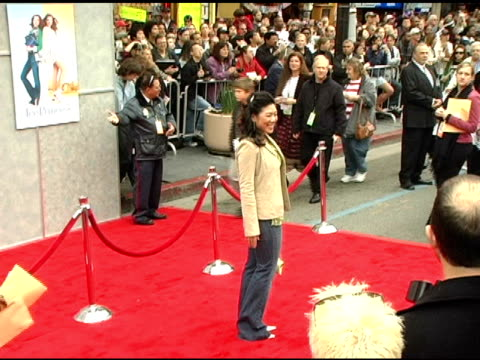 jocelyn lai at the walt disney pictures' 'ice princess' premiere at the el capitan theatre in hollywood, california on march 13, 2005. - el capitan theatre stock videos & royalty-free footage