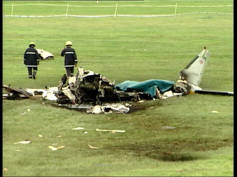 latest lib newmarket wreckage of plane after crash which dettori and fellow jockey ray cochrane survived but in which the pilot was killed wreckage... - scar stock videos and b-roll footage