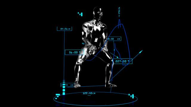 3 d ジョッキー男性、技術データ - 乗馬点の映像素材/bロール