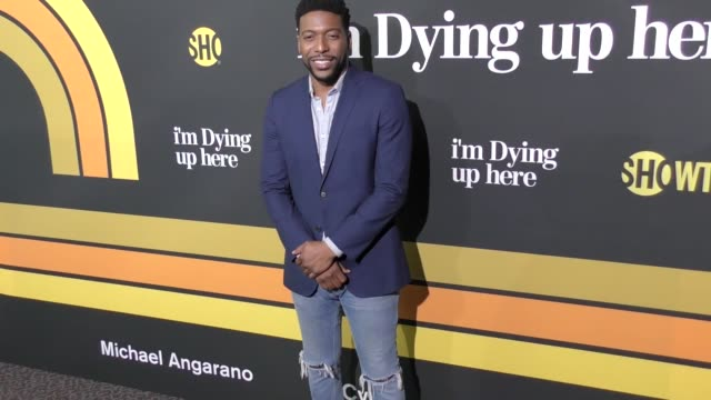 jocko sims at the premiere of showtime's 'i'm dying up here' - arrivals on may 31, 2017 in los angeles, california. - showtime video stock e b–roll