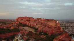 Jodhpur and blue city in the evening. India