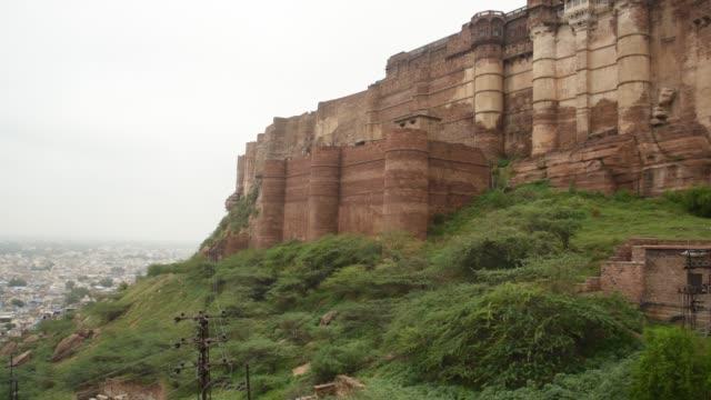 jodhpur, the blue city.rajasthan, india - fortezza video stock e b–roll