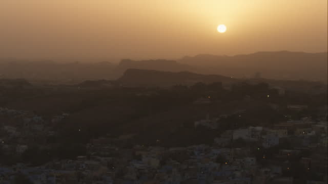 WS Jodhpur with sun setting in background