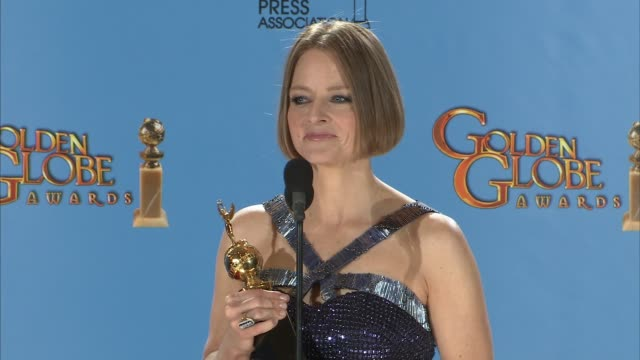 SPEECH Jodi Foster on being more into being an actor now than ever before and on wanting to direct more projects in the future 70th Annual Golden...