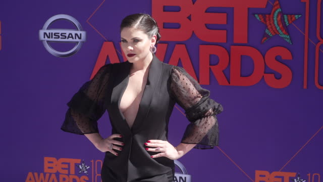 Jodi Lyn O'Keefe at the 2018 BET Awards at Microsoft Theater on June 24 2018 in Los Angeles California
