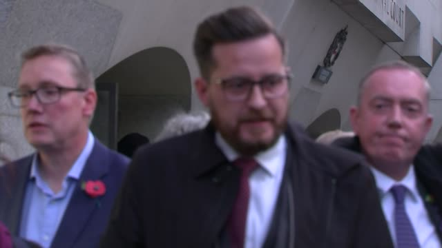 two men jailed england london ext peter chesney statement outside court sot - jackie long stock videos & royalty-free footage