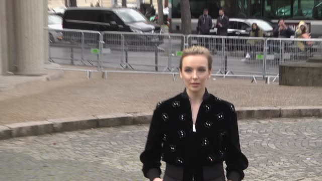 jodie comer attends the miu miu show as part of the paris fashion week womenswear fall/winter 2019/2020 on march 5, 2019 in paris, france. - arts culture and entertainment stock videos & royalty-free footage