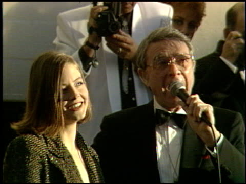 Jodie Foster at the 1991 Academy Awards at the Shrine Auditorium in Los Angeles California on March 25 1991