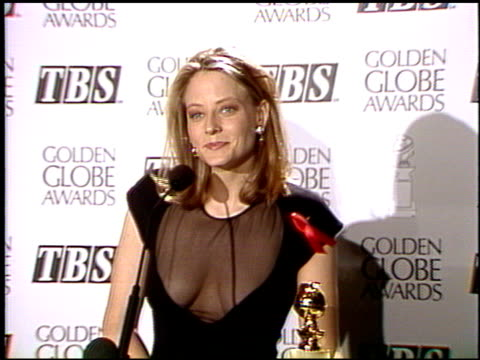 Jodie Foster at the 1992 Golden Globe Awards at the Beverly Hilton in Beverly Hills California on January 18 1992