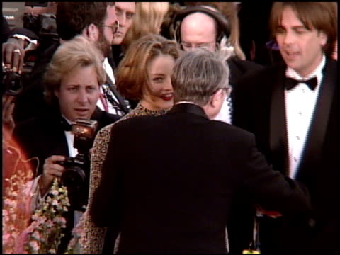 jodie foster at the 1995 academy awards arrivals at the shrine auditorium in los angeles california on march 27 1995 - 1995 stock videos & royalty-free footage