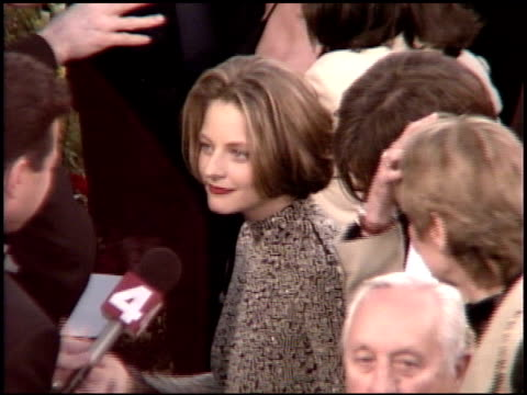 jodie foster at the 1995 academy awards arrivals at the shrine auditorium in los angeles, california on march 27, 1995. - 67th annual academy awards stock videos & royalty-free footage