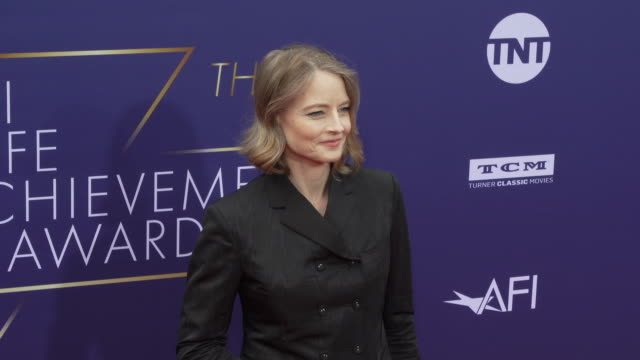 jodie foster at the 2019 afi life achievement award gala honoring denzel washington at dolby theatre on june 06, 2019 in hollywood, california. - the dolby theatre stock videos & royalty-free footage