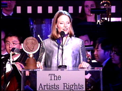 Jodie Foster at the Artist Rights Foundation at the Beverly Hilton in Beverly Hills California on April 17 1998