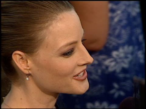 jodie foster at the 'conspiracy theory' premiere at the mann village theatre in westwood, california on august 4, 1997. - regency village theater stock videos & royalty-free footage