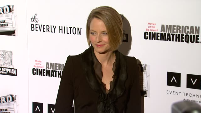 jodie foster at the the 25th annual american cinematheque award honoring robert downey jr at beverly hills ca - american cinematheque stock videos & royalty-free footage