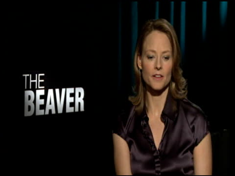 jodie foster on working with mel gibson at the 'the beaver' junker at los angeles ca - mel gibson stock videos and b-roll footage
