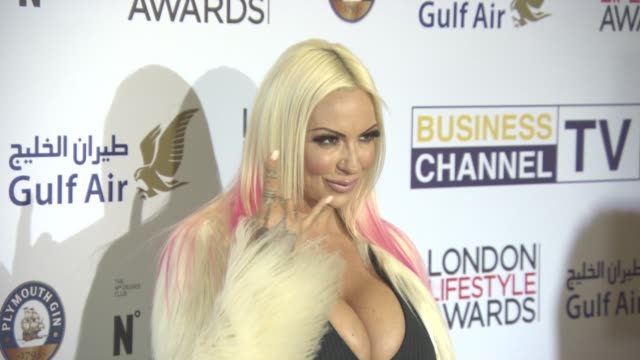 jodie marsh at london lifestyle awards at lancaster london hotel on october 3, 2016 in london, england. - jodie marsh stock videos & royalty-free footage