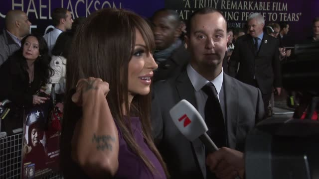 jodie marsh at the michael jackson: the life of an icon world premiere at london england. - jodie marsh stock videos & royalty-free footage