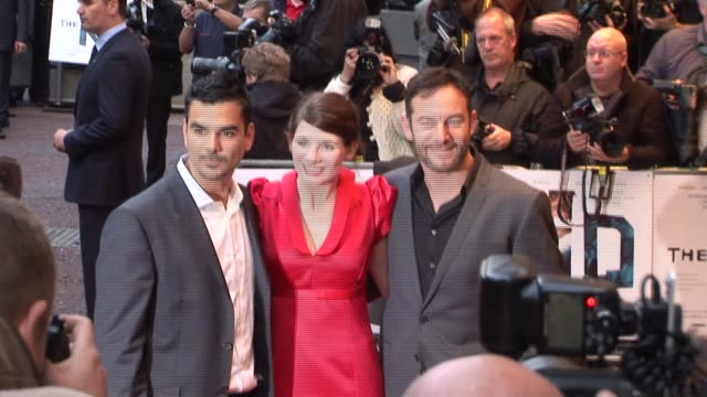 jodie whittaker jason isaacs and guest at the the kid uk premiere at london england - jason isaacs stock videos & royalty-free footage