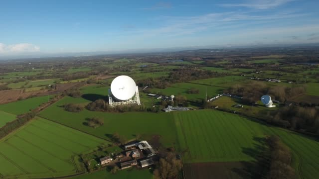 Jodrell Bank Observatory Aerial Video Front Left to Right