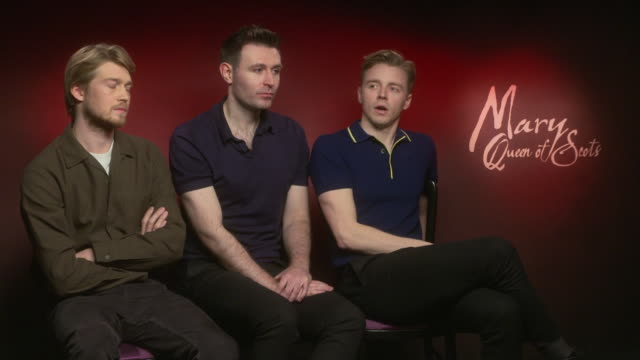 INTERVIEW Joe Alwyn James McArdle Jack Lowden on Saoirse Ronan performance working with Saoirse Ronan at 'Mary Queen of Scots' interviews on December...