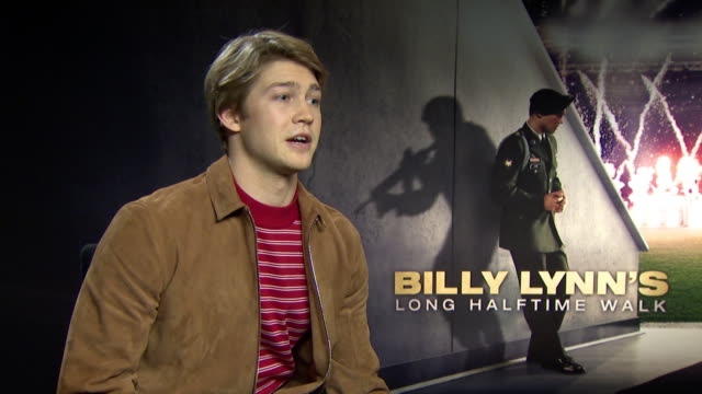 INTERVIEW Joe Alwyn on how he got cast for the film at 'Billy Lynn's Long Halftime Walk' Interviews on January 19 2017 in London England