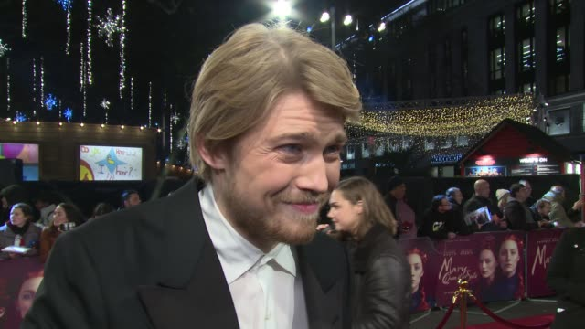 Joe Alwyn on period roles feminine power and fellow cast at Cineworld Leicester Square on December 10 2018 in London England