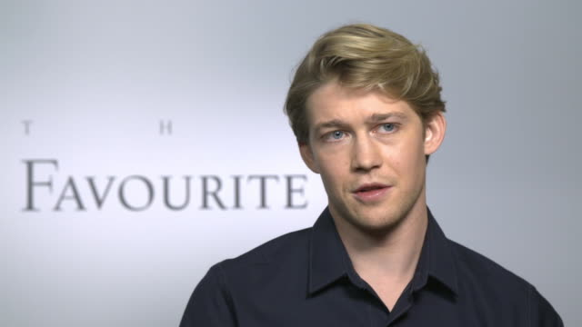 INTERVIEW Joe Alwyn on working on location at Hatfield House in England at 'The Favourite' interviews at the 75th Venice International Film Festival...