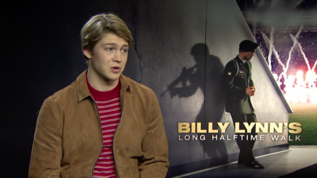 INTERVIEW Joe Alwyn on would he work on a film with a high frame rate again at 'Billy Lynn's Long Halftime Walk' Interviews on January 19 2017 in...