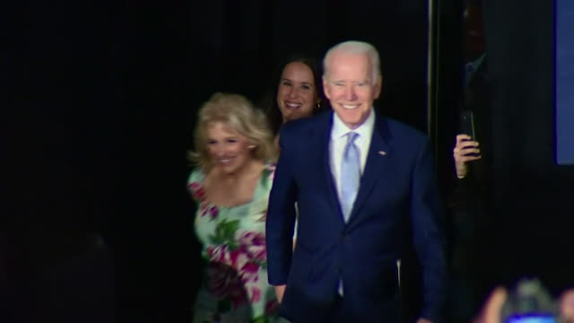 joe biden celebrating victory in the south carolina primary - president stock videos & royalty-free footage