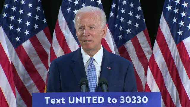 joe biden criticizes president donald trump's preparation and early response to the coronavirus pandemic during a campaign event in dover, delaware. - president stock videos & royalty-free footage