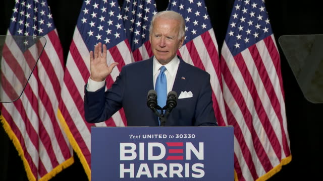 joe biden praises kamala harris during their first joint campaign event in wilmington delaware - united states and (politics or government) stock videos & royalty-free footage