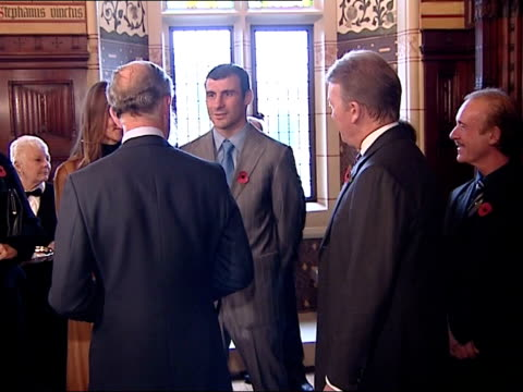 Joe Calzaghe presented with lifetime achievement award by Prince Charles WALES Cardiff Cardiff Castle PHOTOGRAPHY*** Back View Prince Charles meeting...