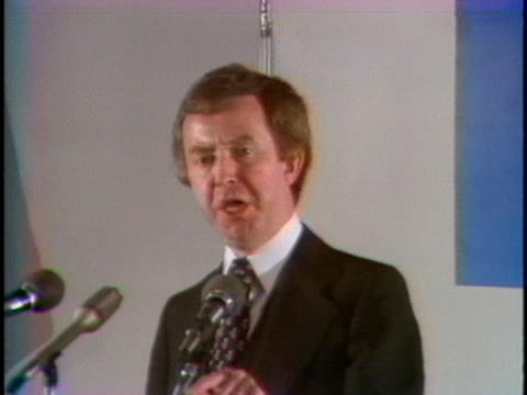 joe clark, 1979 canadian candidate for prime minister, says that a change in government in canada will make a difference. - (war or terrorism or election or government or illness or news event or speech or politics or politician or conflict or military or extreme weather or business or economy) and not usa stock videos & royalty-free footage