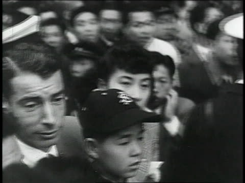 joe dimaggio getting a hero's welcome in japan - 1951 stock videos & royalty-free footage
