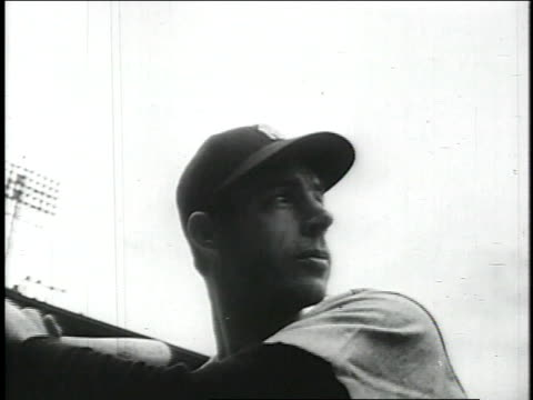joe dimaggio hits home run and rounds first base / united states - baseball world series stock videos & royalty-free footage